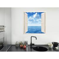 Ventana simulada en vinilo mar y cielo