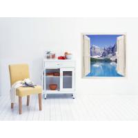 Vinilo simulando ventana a paisaje montaña