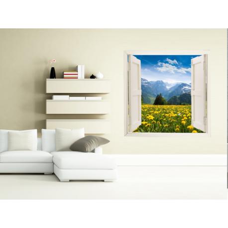 pegatina ventana con paisaje ven09
