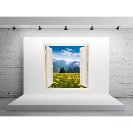 vinilo ventana adhesiva paisaje ven09
