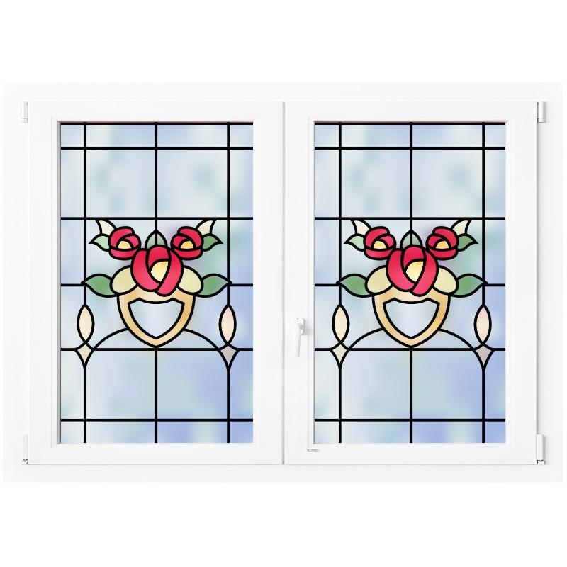 Vinilo vidriera flores - Vinilos cristales ventanas ...