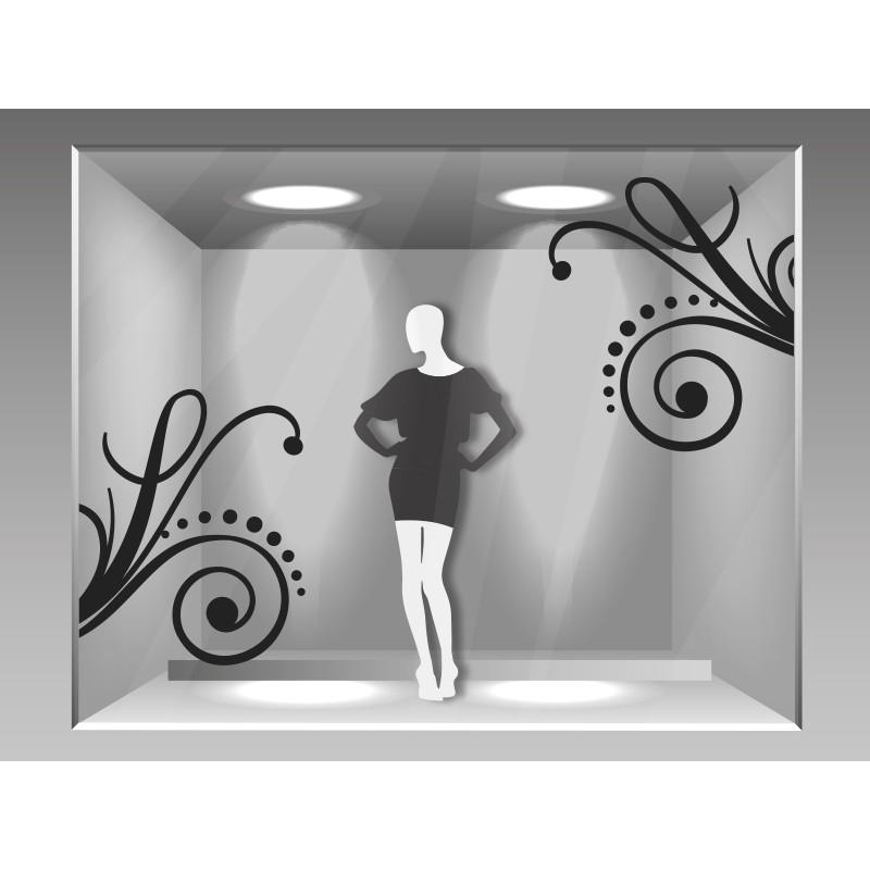 vinilo ornamento para espejo
