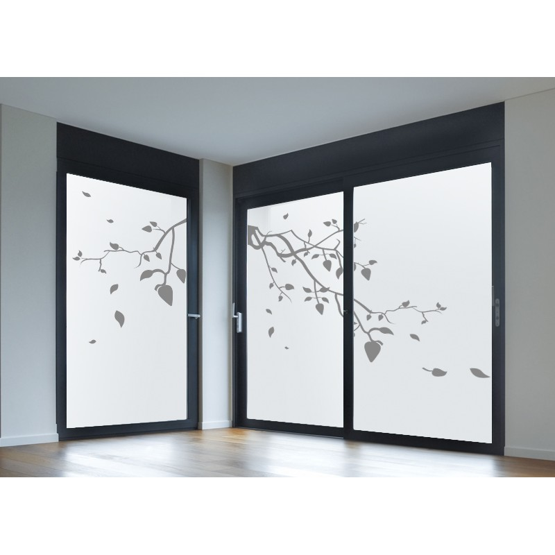 Vinilo transl cido ramas oto o - Vinilos para ventanas de cocina ...