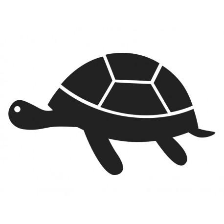 pizarra negra con forma de tortuga