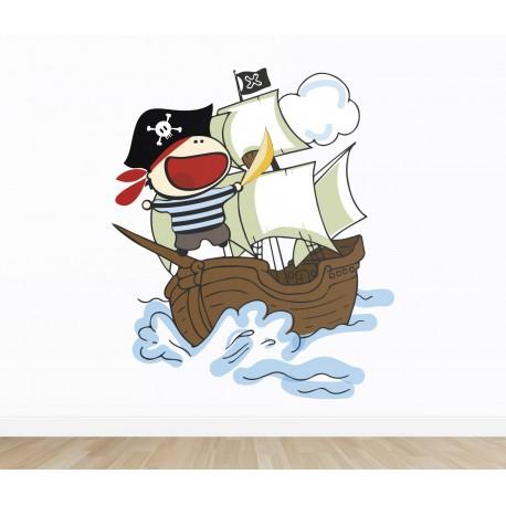 vinilo infantil piratas imagen ambiente