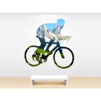 Ciclista con paisaje