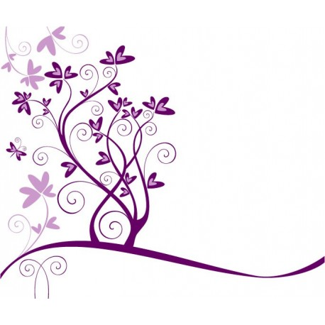pegatina decorativa Flores Corazones para Escaparate