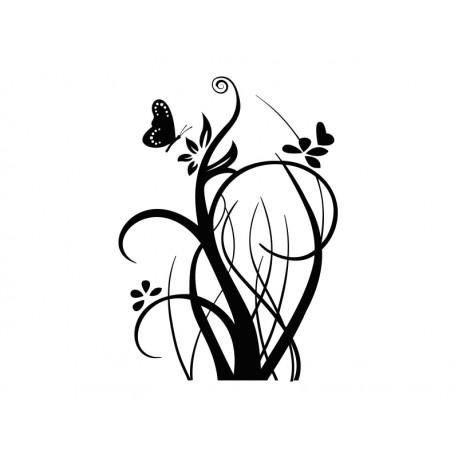 pegatina decorativa floral