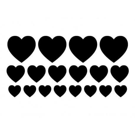 vinilo corazones en kit producto mot923