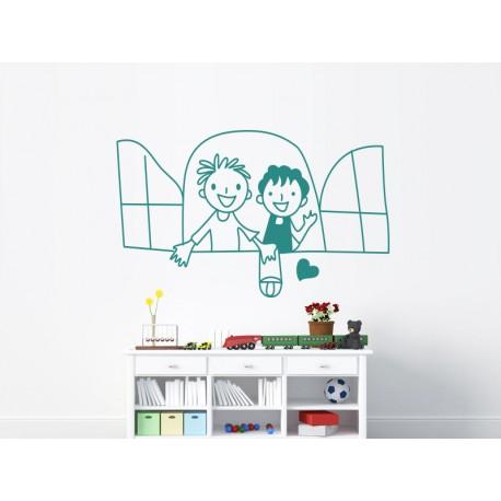 adhesivo decorativo infantil ventana mot443