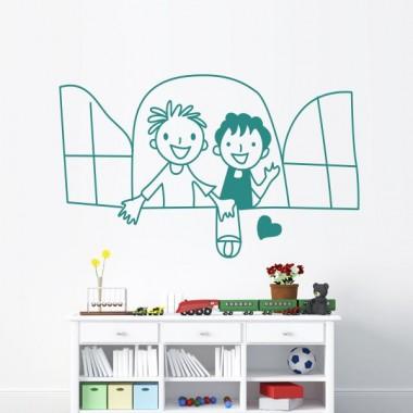 adhesivo decorativo Niños Ventana Motivo II
