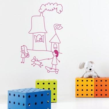vinilo infantil dibujo mot442