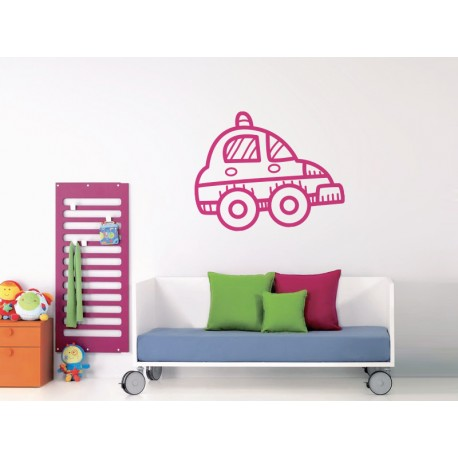 pegatina decorativa infantil coche ambiente producto mot278