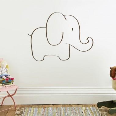 "pegatina decorativa Elefante ""Trompita"""