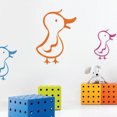 """Pato """"CuaCua"""" adhesivo decorativo ambiente"""