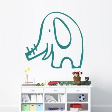 "adhesivo decorativo Elefante ""Dante"""