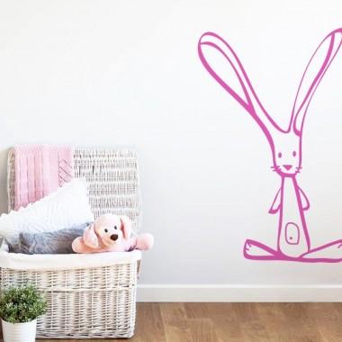 """Conejo """"Orejitas"""" decoración con vinilo"""