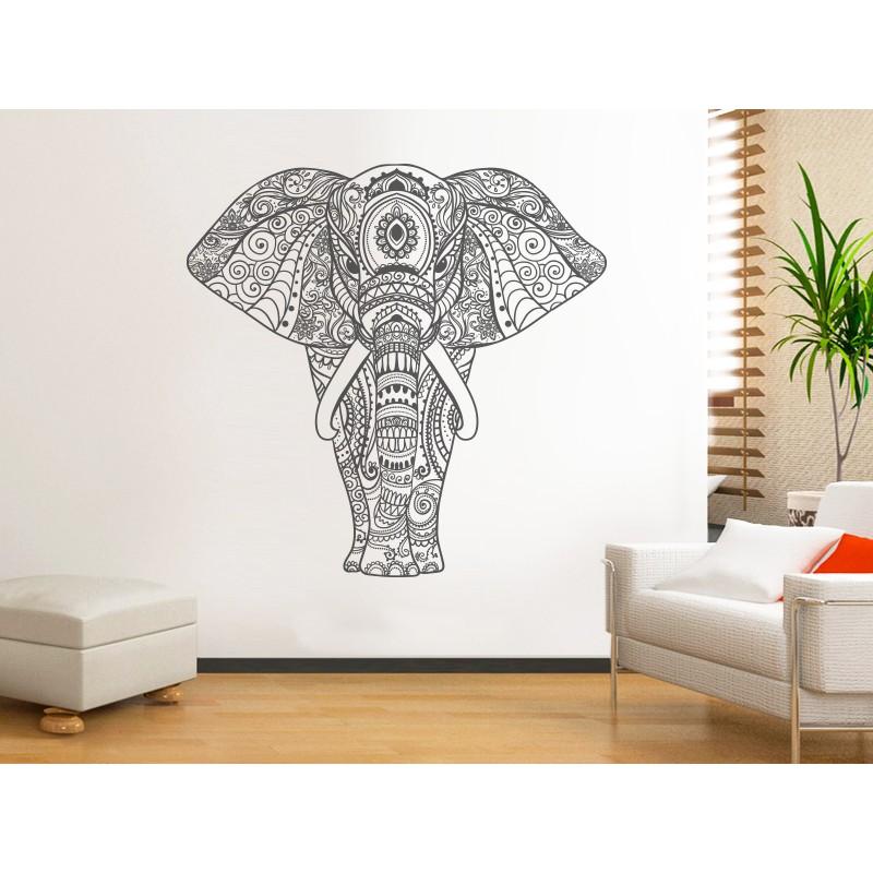 Vinilo mandala elefante for Vinilos pared mandalas