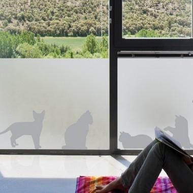 vinilos para cristales gatos en ventana imagen ambiente