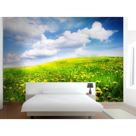 Fotomural Campo Primavera adhesivo decorativo ambiente