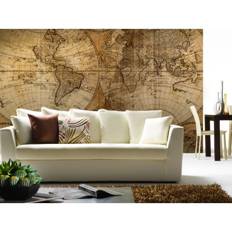 pegatina decorativa Fotomural Mapa Mundi