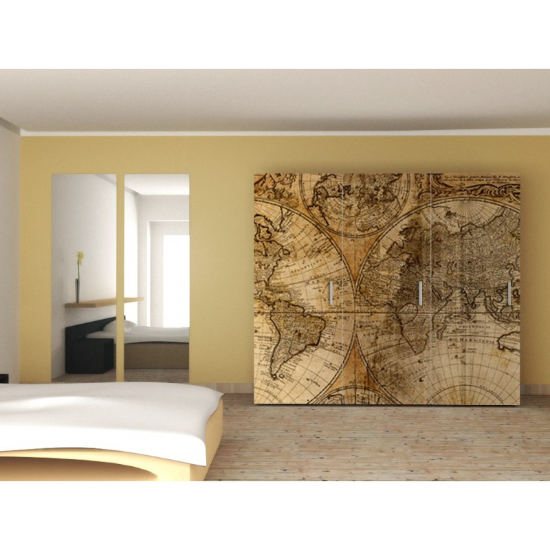 Mural mapamundi vintage wall murals for Define mural thrombus