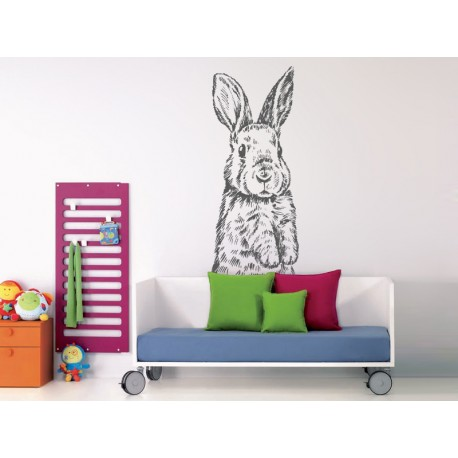 pegatina infantil pared conejo