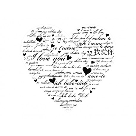 pegatina decorativa corazon
