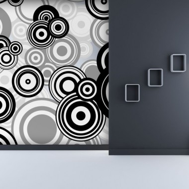 fotomural circular escala grises