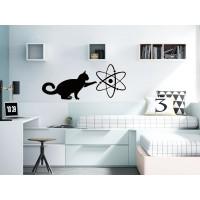 vinilo gato jugando con atomo