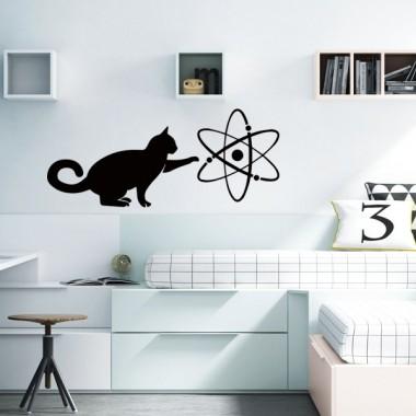 vinilo gato ciencia en ambiente