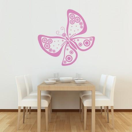 Mariposa vinilo mariposa fantasia en ambiente
