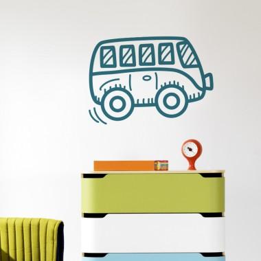vinilo infantil autobus en ambiente