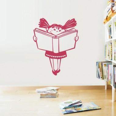 vinilos infantiles nena leyendo