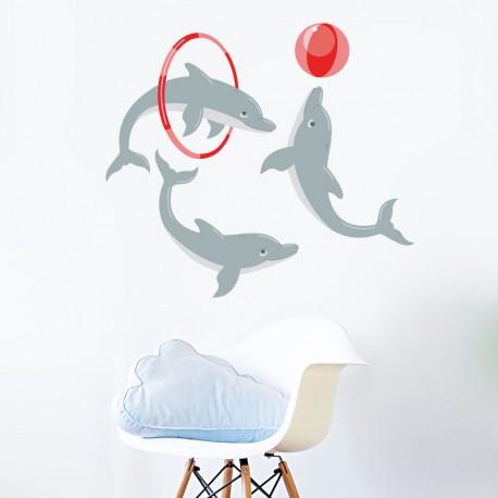 vinilos infantiles de delfines imagen ambiente