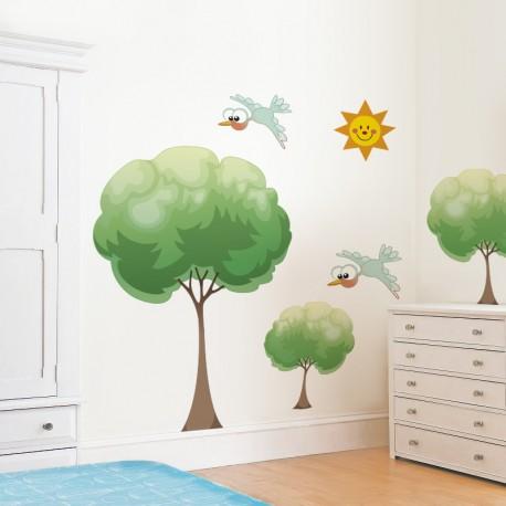 vinilos para habitacion infantil de naturaleza
