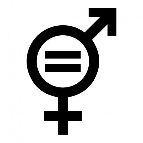Igualdad de géneros icono en pegatina
