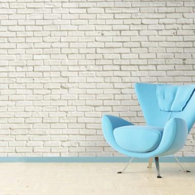 Ladrillo blanco pared en ambiente