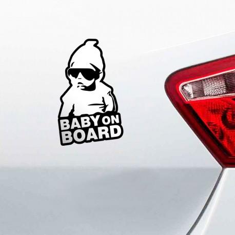 pegatina baby on board en ambiente