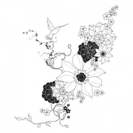 vinilo floral bonito