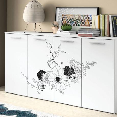 vinilo para decorar muebles floral