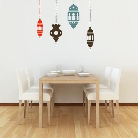 vinilo decorativo cándiles árabes
