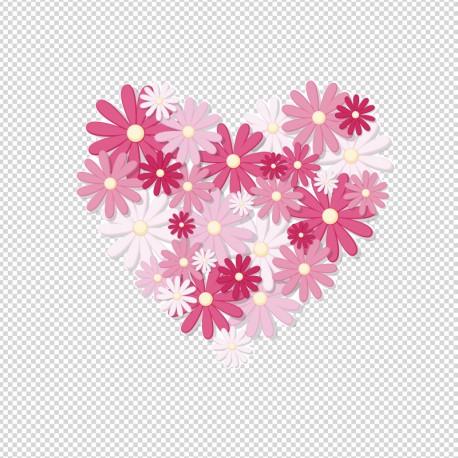 vinilo corazón flores en venta