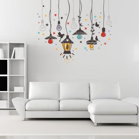 vinilo lámparas deco color imagen