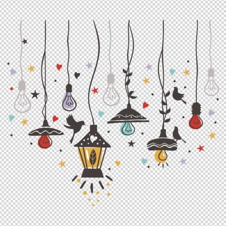 vinilo lámparas decoración color en venta