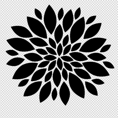 vinilo decorativo flor de oriente en venta