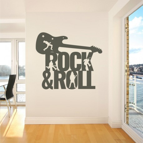 Vinilo rock and roll en grafito