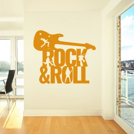 Vinilo rock and roll en naranja