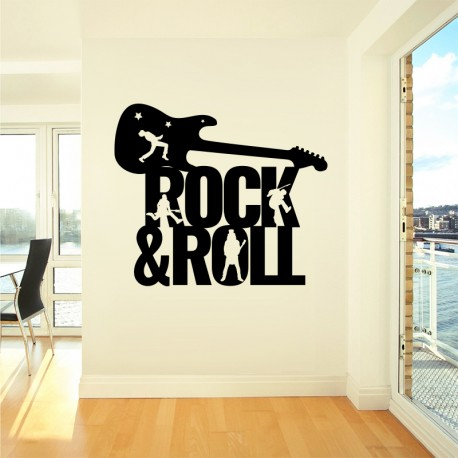 Vinilo rock and roll en negro