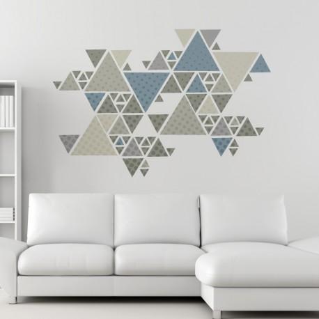 vinilo geometría triangular